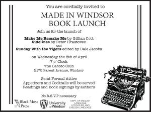 Launching New Books by Black Moss Press April 8 in Windsor