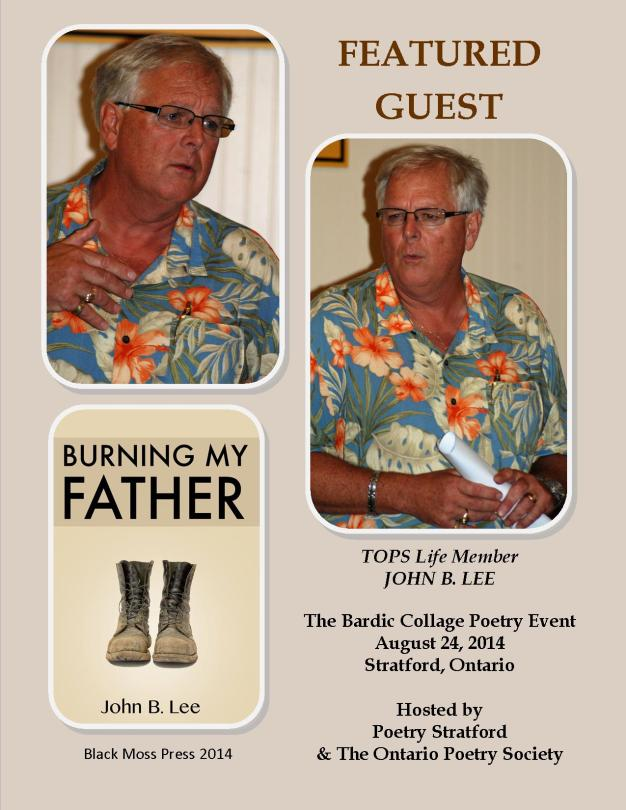 John B Lee in Stratford Aug 24, 2014