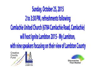 Sunday, October 25, 2015 in Camlachie, Ontario