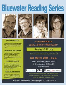 Bluewater Reading Series May 9, 2015 event poster JPG FINAL VERSION for distribution.