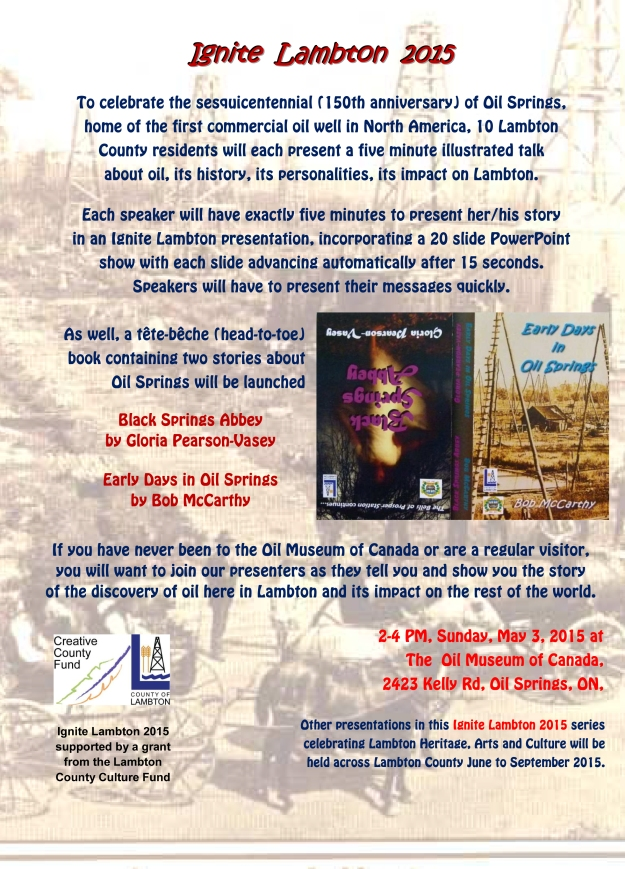 Double Book to be launched May 3 in Oil Springs.
