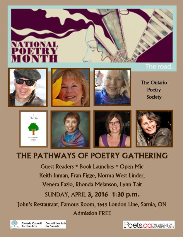 TOPS Sarnia National Poetry Month April 3, 2016 poster for distribution jpg version